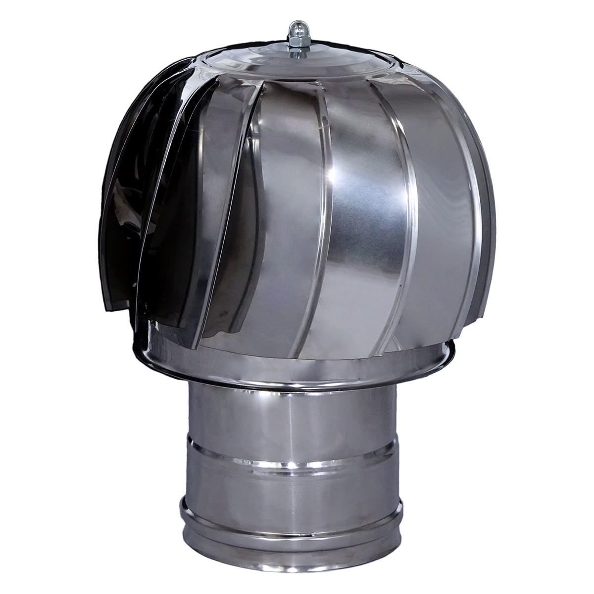 Pălărie rotativă din inox pentru coșuri de fum- Ø 130mm