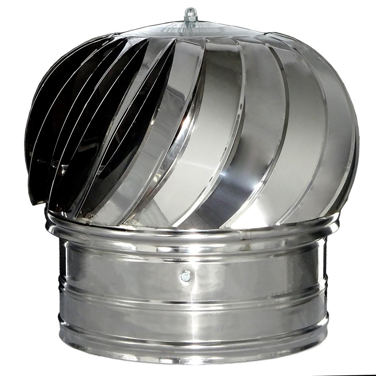 Pălărie rotativă din inox pentru coșuri de fum - Ø 200mm