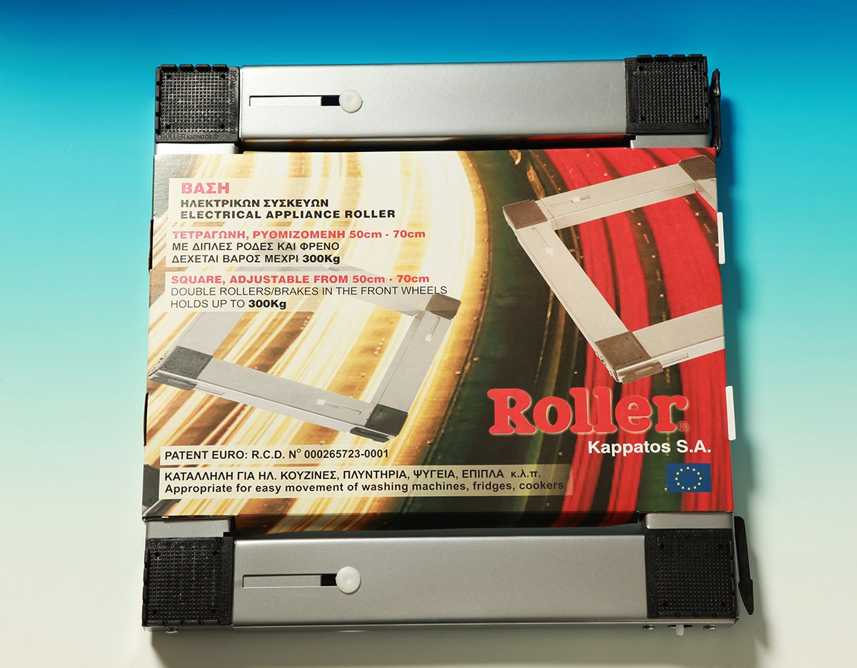 silver square rollers
