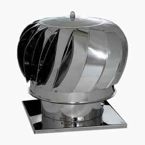 Pălărie rotativă inox 200mm cu talpa 24cm x 24cm