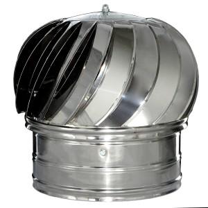 Pălărie rotativă din inox pentru coșuri de fum